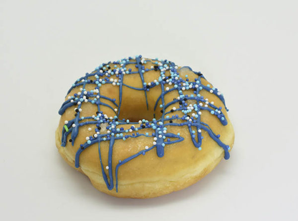 The Naked Donut Blauw - JJ Donuts