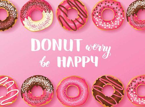 Kaart toevoegen - Donut worry be happy donut kaart - JJ Donuts