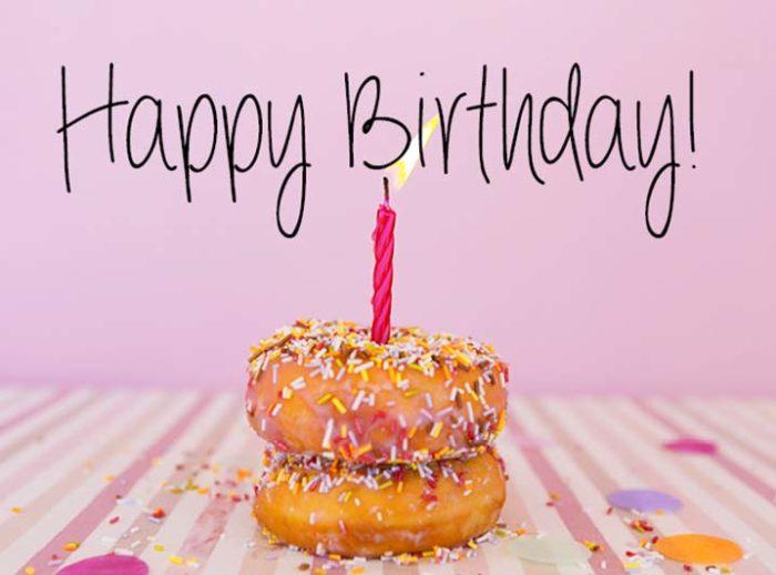 Kaart toevoegen - Happy Birthday donut kaart - JJ Donuts