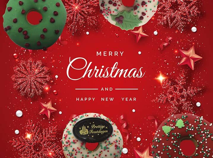 Kaart toevoegen - Kerst donut kaart - JJ Donuts