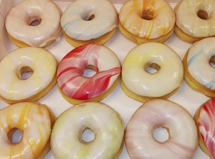Marmer Donut kleuren - JJ Donuts