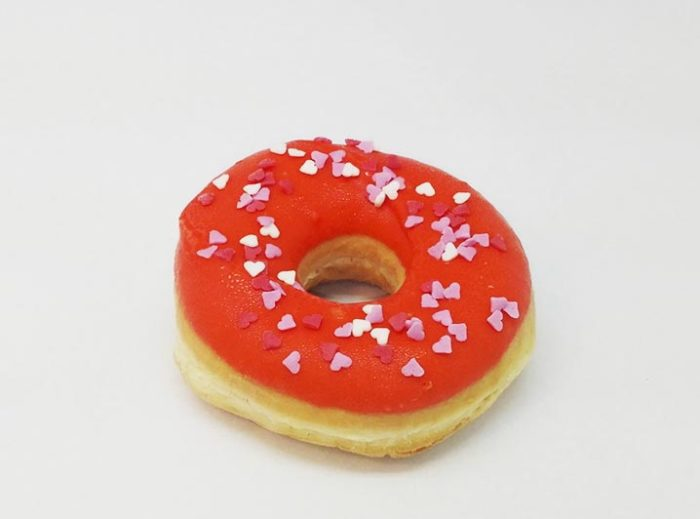 Love hearts Donut oranje sinas - JJ Donuts