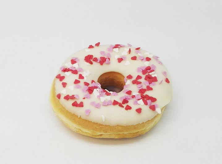 Love hearts Donut wit chocolade - JJ Donuts
