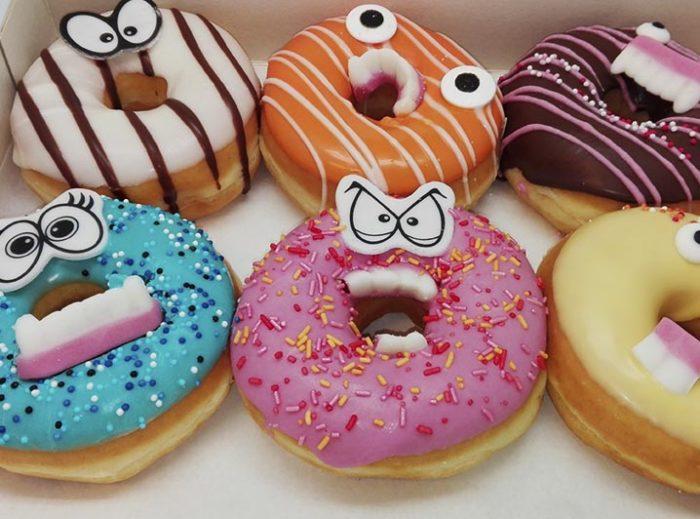 Monster Donut box - JJ Donuts