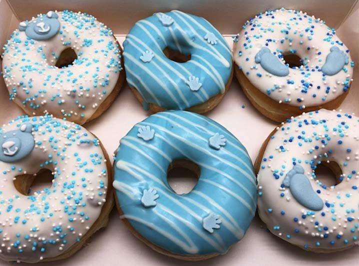Baby Donut box blauw - JJ Donuts