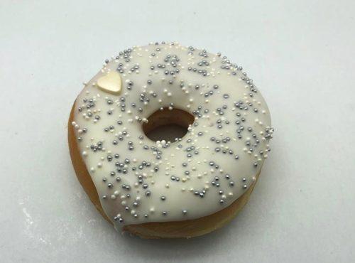 Bruidsdonut Zilveren Parels - bruiloft donut 2019 - JJ Donuts
