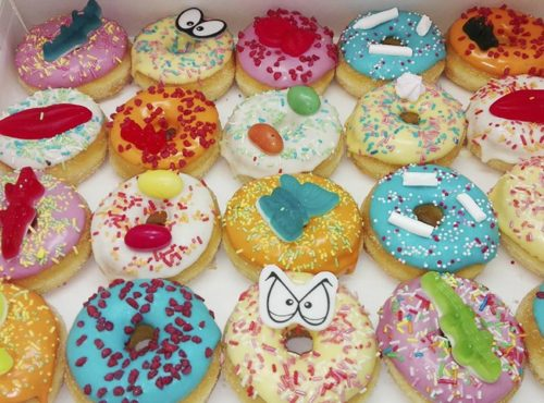 Full Color Kids Candy Donut box - JJ Donuts