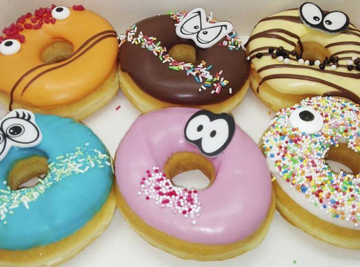 Funny Face Donut box Joep - JJ Donuts