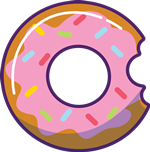 JJ Donuts - donut los logo
