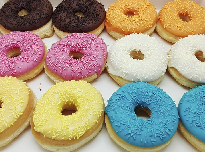 Uni Color hagel Donut box - JJ Donuts