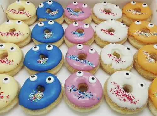Kids funnyfaces mini donut box - zakelijke donuts - JJ Donuts