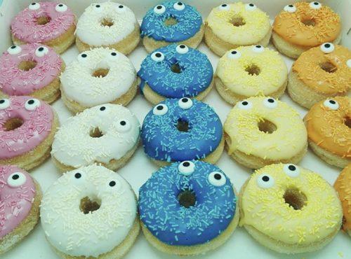 Kindercrèche mini donut box - zakelijke donuts - JJ Donuts