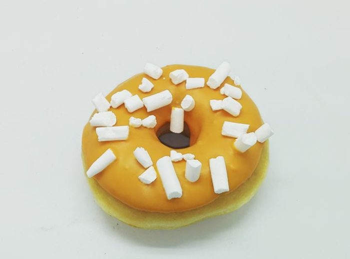 Cerise Meringe Crumble Donut - JJ Donuts