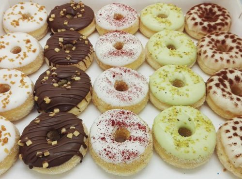 Trendy mini donut box - zakelijke donuts - JJ Donuts