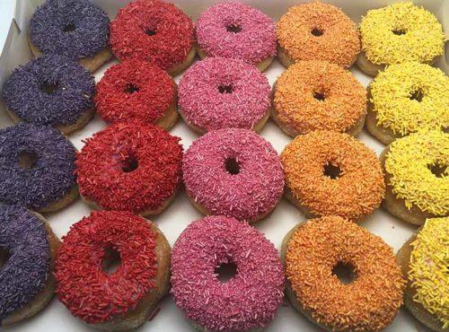 Uni color mini donut box 2020 - zakelijke donuts - JJ Donuts