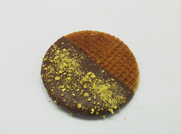 Versierde Stroopwafels choco pistache - JJ Donuts