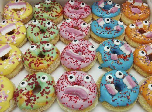 Mini Monsters donut box 2 - JJ Donuts