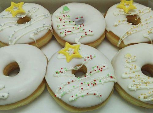 Witte Kerst Donut box - JJ Donuts