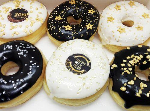Happy New Year Donut box - JJ Donuts