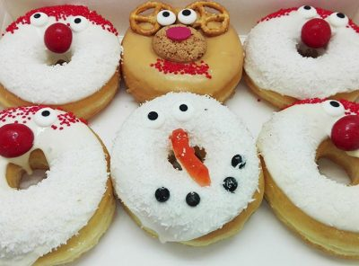 Kerstman Donut box - JJ Donuts