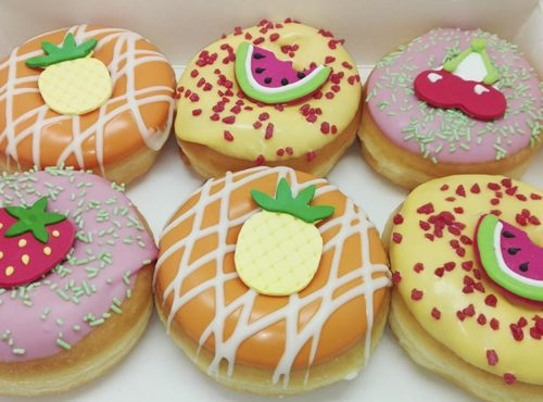 Tropical Donut box 6 decoraties - JJ Donuts