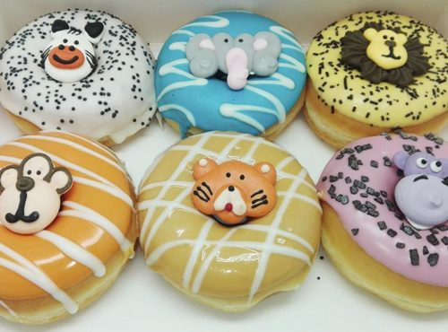 Zoo Donut box 6 decoraties - JJ Donuts