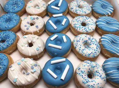 Blauw Wit Mini Donut box - JJ Donuts