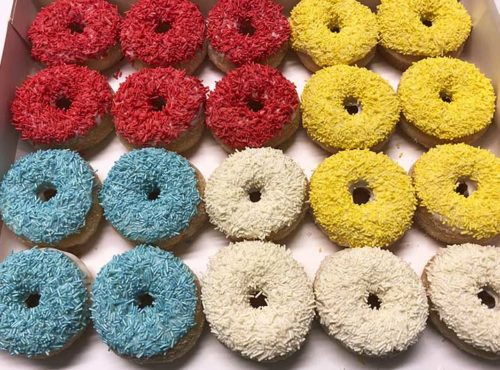 Color Play Mini Donut box - JJ Donuts