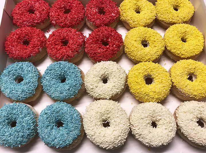 Color Play Mini Donut box - JJ Donuts