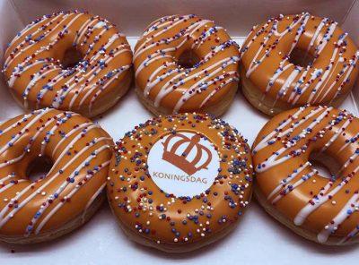 Koningsdag Lijnen Donut box 2 nieuw - JJ Donuts