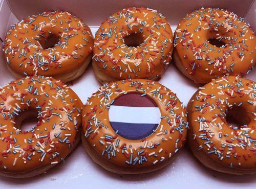Oranje Hagel Donut box - JJ Donuts