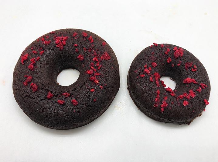 Raspberry Crunch Chocolate Donut 2 - JJ Donuts