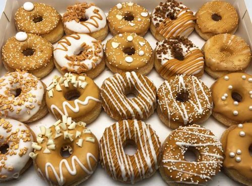 Bruiloft Mini Donut box caramel - JJ Donuts