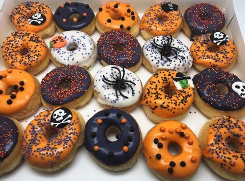 Halloween Spinnen Mini Donut box - JJ Donuts
