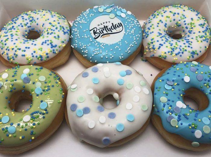 Happy Birthday Donut box man - JJ Donuts