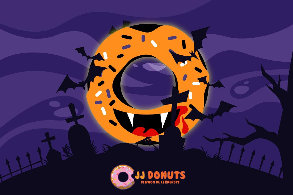 JJ Donuts - Halloween Donuts - griezelig lekkere donut web