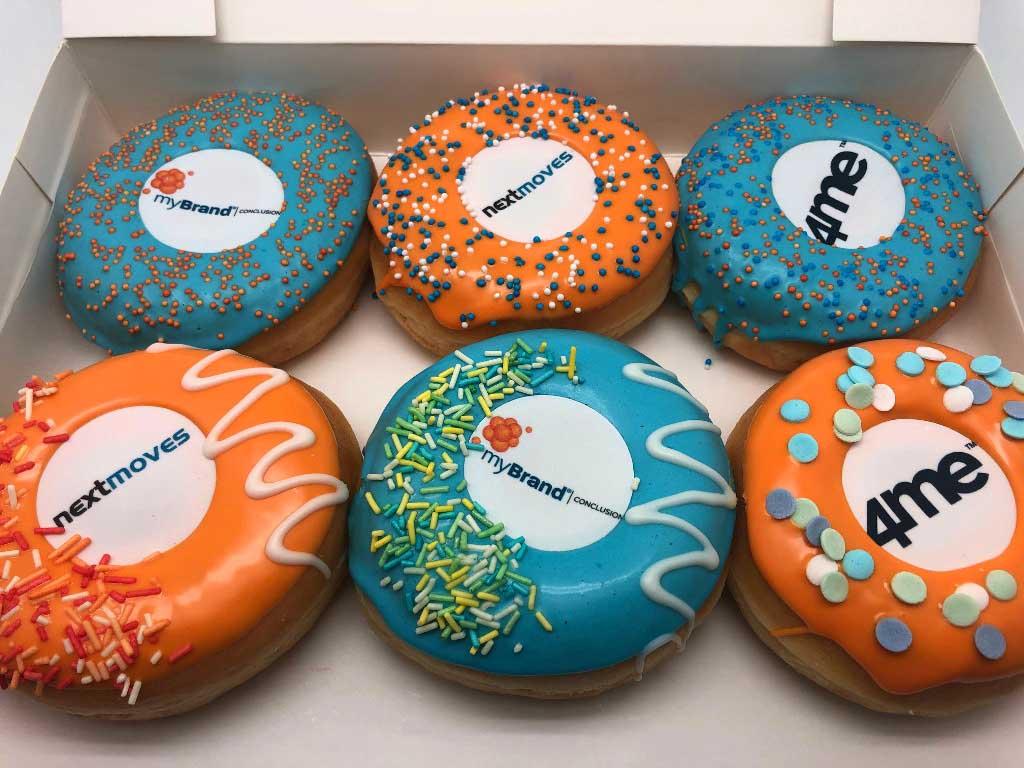 JJ Donuts - zakelijke donuts - donut met bedrijfslogo of afbeelding