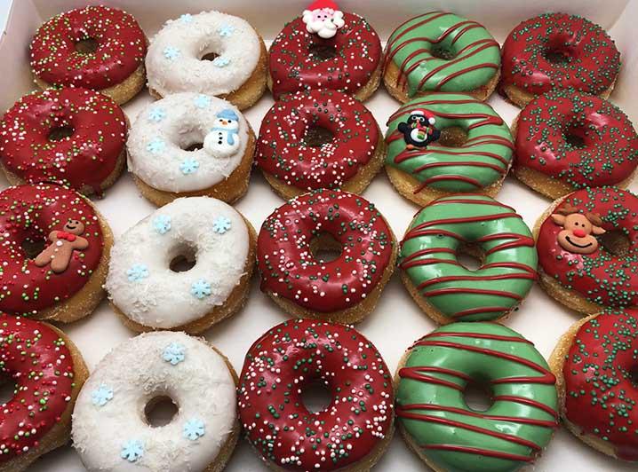 Ho Ho Ho Mini Donut box - JJ Donuts