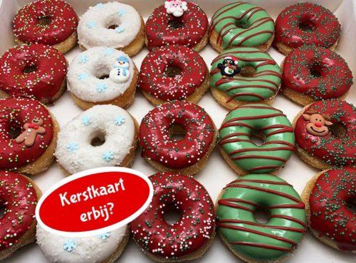 Ho Ho Ho Mini Donut box met kerstkaart nieuw - JJ Donuts