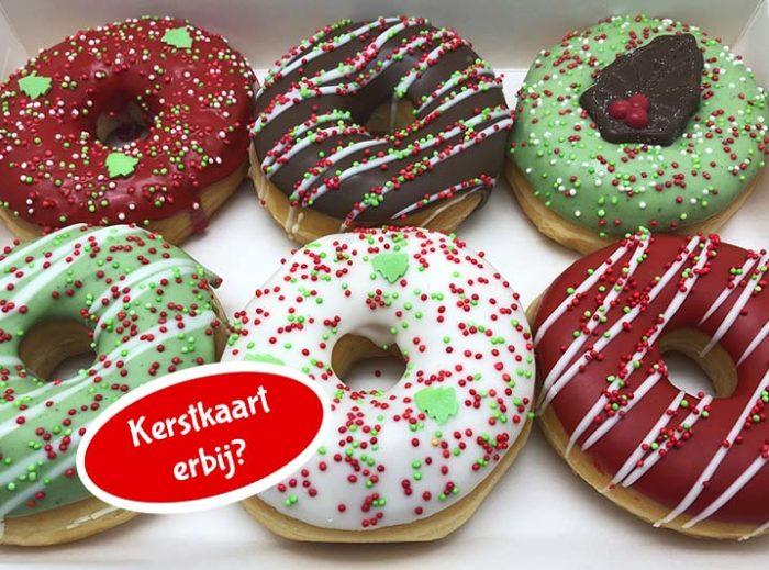 Kerst Basic Donut box met kerstkaart nieuw - JJ Donuts