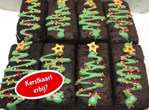 Kerst Brownie Pops met kerstkaart nieuw - JJ Donuts