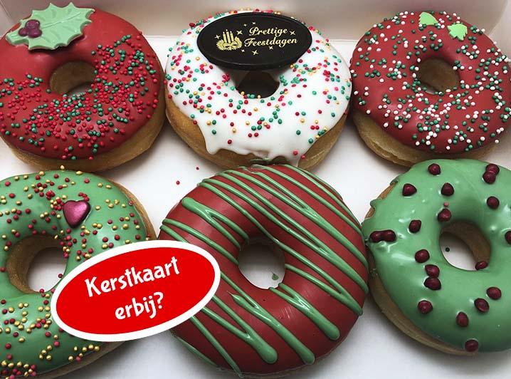 Kerst Donut box met kerstkaart nieuw - JJ Donuts