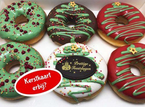 Kerst Gift Donut box met kerstkaart nieuw - JJ Donuts