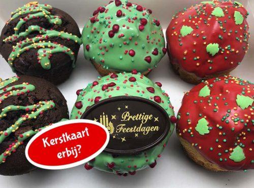 Kerst Muffin mix box met kerstkaart nieuw - JJ Donuts