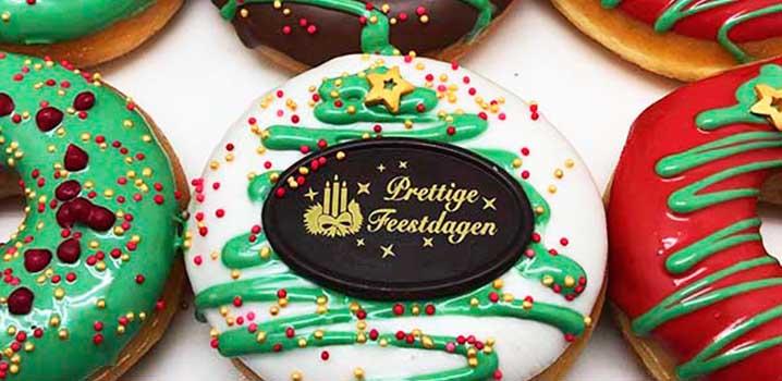 Kerst donuts - donut voor kerst kerstpakket kerstcadeau - met kerstkaart - JJ Donuts
