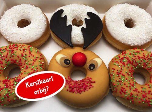 Rudolph Donut box met kerstkaart nieuw - JJ Donuts