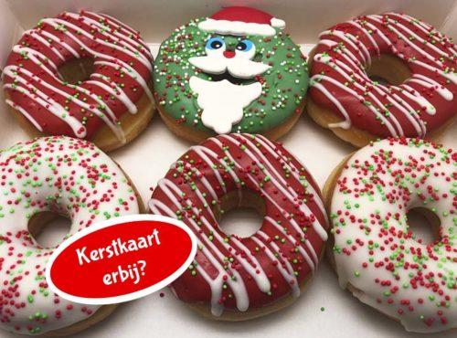 Santa Donut box met kerstkaart nieuw - JJ Donuts