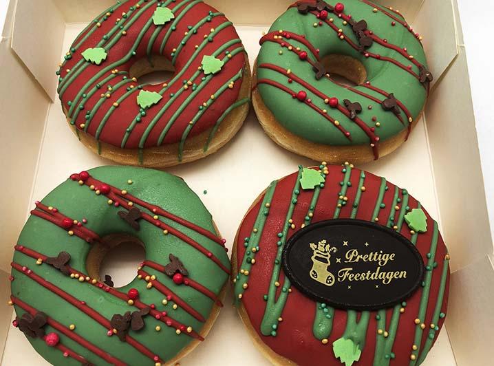Kerst 4st Donut box - JJ Donuts
