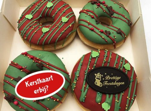 Kerst 4st Donut box