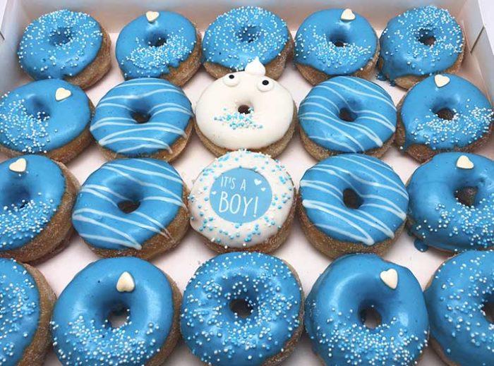 Boy or Girl Mini Donut box - jongen - JJ Donuts
